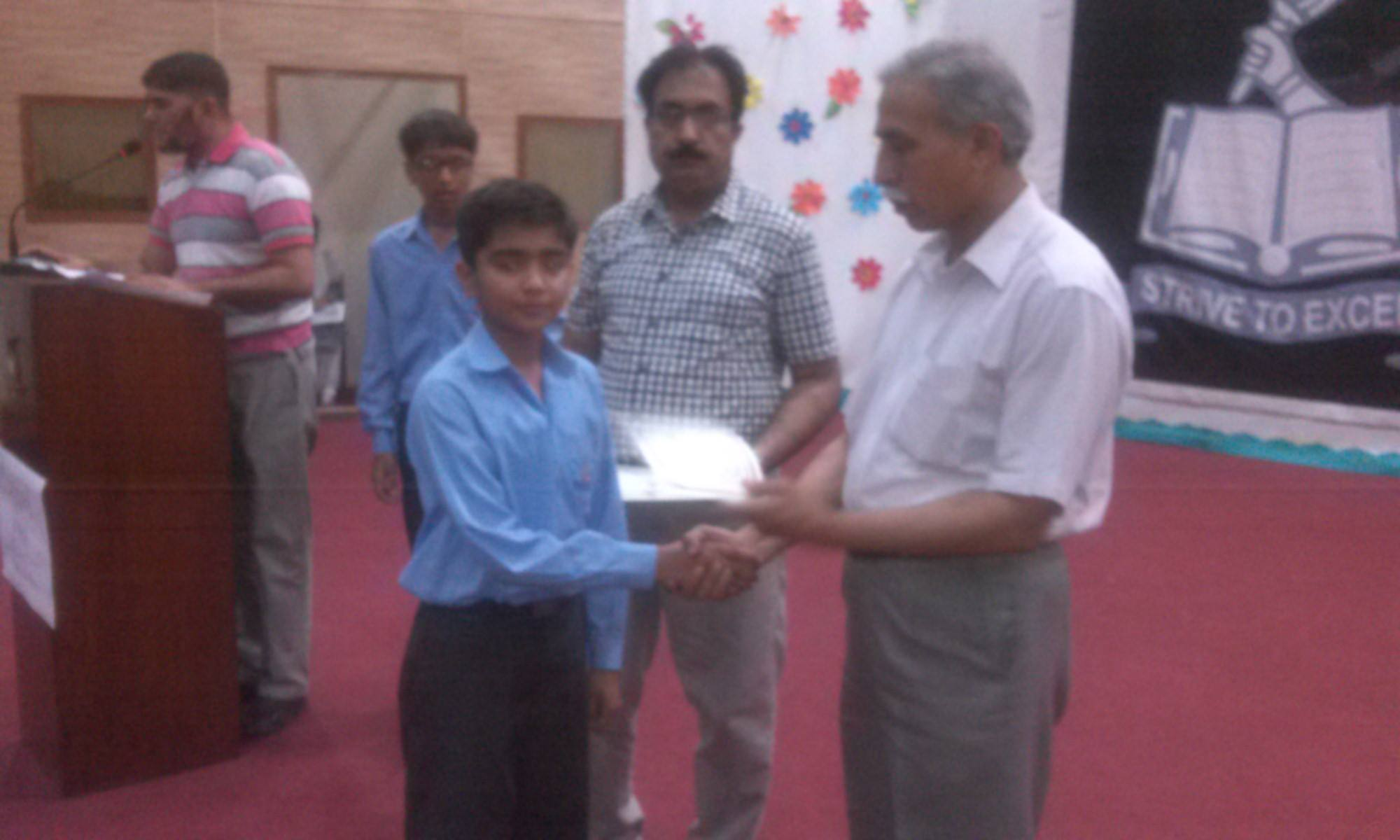 Prize Distribution Ceremony Boys School 29 May, 2015
